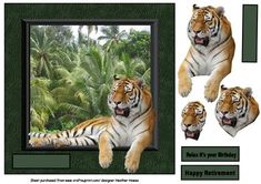 out of the frame on Craftsuprint designed by Heather Howes - a great male card with a real 3d effect - Now available for download!
