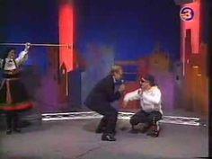 """Burgerleik fra """"Løs på tråden"""", TV3, 1992."""
