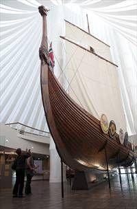 Hjemkomst Heritage Center - Moorhead, MN (near Fargo, North Dakota) replica of a Viking ship that sailed from Norway to Duluth, Minnesota (Minneapolis trip)