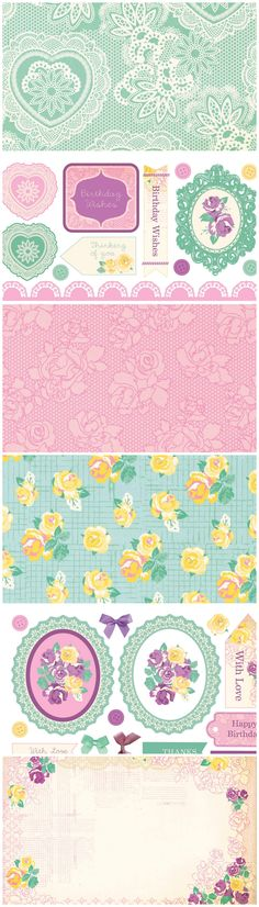 Go for a glorious vintage look with these stunning free printable papers from…