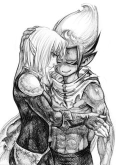 Cool drawing of evangelyne and tristepin