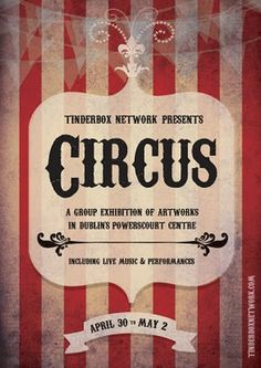 circus poster. #typography