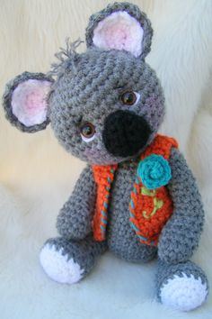 Crochet Pattern Koala Bear by Teri Crews by TeriCrewsCrochet