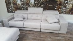 Habitat large 3 seater sofa in microfibre. Sofa with sliding seats and under seat storage and adjustable headrests. Delivered to our client in Coventry. Modern Sofa, Modern Bedroom, Sofa Bed Mattress Cover, Leather Bed, Seat Storage, 3 Seater Sofa, Coventry, Corner Sofa, Folded Up
