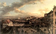 Bernardo Bellotto Paintings-View of Warsaw from the Royal Palace, 1773