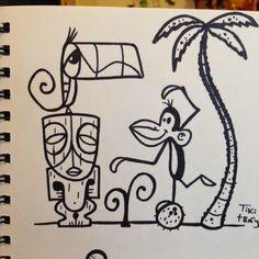 Tiki TOny sketches rock