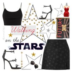 """""""Walking on the Stars 🌟"""" by mypointofstyle ❤ liked on Polyvore featuring Giuseppe Zanotti, Alexander Wang, Miss Selfridge, Cartier, Gucci, Jean-Paul Gaultier, Jennifer Meyer Jewelry, MypointofStyle and WalkingontheStars"""