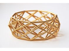 Constructionist 3D Printed Bracelet by mcode on Shapeways