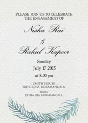 Christian Style Engagement Invitation Card  Rengaprasath