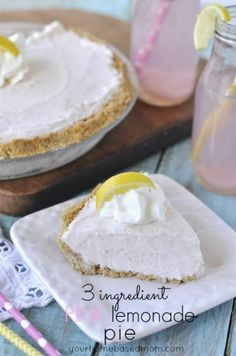 3 Ingredient Pink Lemonade Pie - your homebased mom