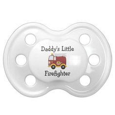 Daddy's Little Firefighter Pacifier
