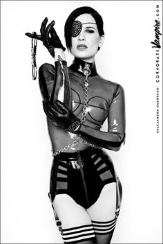 Portrait of a Domme / Olivia Black / Chicago 2012 / by Alejandra Guerrero…