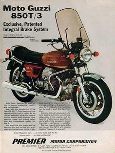 Moto Guzzi 850, Moto Guzzi Motorcycles, Guzzi V7, Moto Bike, Cool Motorcycles, Vintage Motorcycles, Motorcycle Posters, Motorcycle Quotes, Motorcycle Art