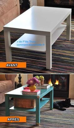 relooking table basse ikea lack avec palettes relooking meubles pinterest tables. Black Bedroom Furniture Sets. Home Design Ideas