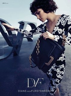 Arizona Muse for DVF f/w campaign