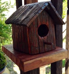 Rustic Birdhouses | Rustic Bird House | Birdhouses | Pinterest
