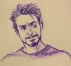 I know this is more of a sketch than an official fan art, but it just captures his expression SO well. Like when he's really emotional but being him he has to hide it. Iron man fans, we all know these times :)