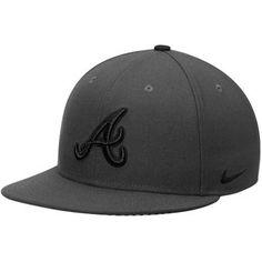 Men's Atlanta Braves Nike Anthracite Complete Game True Snapback Adjustable Hat