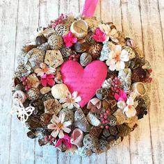 """Kopogtató - """"Pink szív"""" - 25 cm"""