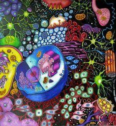 Science Classroom stuf... Cell Biology Art