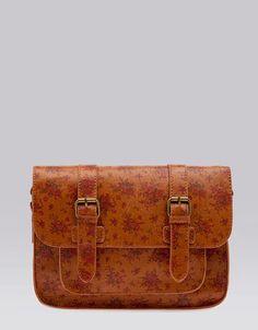 Bershka Romania - Hard case flowered handbag