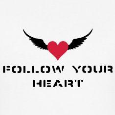Følg hjertet ditt!Med et vakkert hjerte og vinger i motorsykkel - street art stil!Finnes i alle farger!