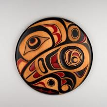 Red Cedar and Acrylic Eagle Panel by Haida artist Don Yeomans