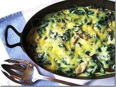 Espinacas Gratinadas | Receta muy sencilla para preparar las espinacas, además muy saludable.