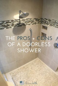 A doorless shower is a bold, cutting-edge design choice for Portland and Seattle homeowners to make. Learn more about the pros and cons of a doorless shower. Bright Bathroom, Doorless Shower Design, Master Bathroom Layout, Remodel, Bathrooms Remodel, Walkin Shower, Bathroom Bill, Bathroom Images, Doorless Shower