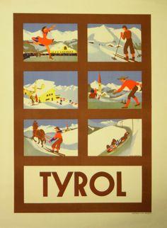 Original Vintage Posters -> Sport Posters -> Tyrol - Winter Sports - AntikBar