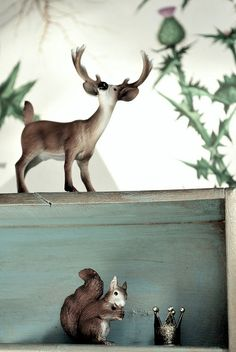 squirrel and buck miniatures
