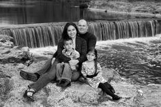 50 Outstanding Examples Of Family Photography - I love the black and white and also the water stream is frozen in time.