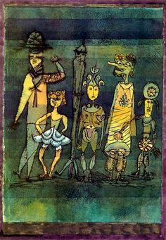 Paul Klee: Masks on the meadow, 1920.