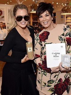 Khloe Kardashian flaunted oversized aviators with industrial accents at an event with her entrepreneur momma!
