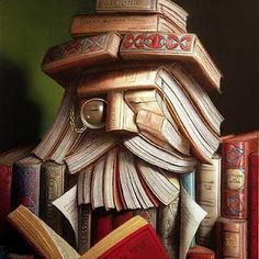 face made from books