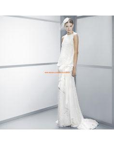 Moderne ärmellose tiefe Taille Brautkleider aus Paillettenchiffon- Jesús Peiró