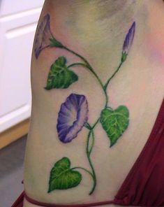 morning glory flower tattoo