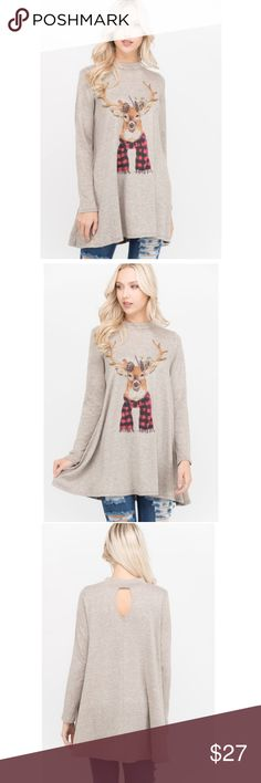 Just in!  Deer print top Boutique item. Brand new. 95% polyester, 5% spandex - knit fabric Phil Love Tops