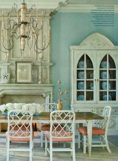 Sweet Chaos Home: Dining Chair Contender: Chinese Chippendale Dining Room Blue, Dining Chairs, Dinning Set, Dining Decor, Arm Chairs, Dining Area, Beautiful Dining Rooms, Beautiful Homes, Rooms Ideas