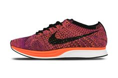 Nike Flyknit Racer Black/Hyper Orange-Vivid Purple