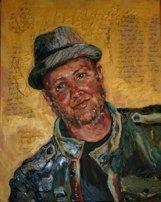 www.RobbiFirestone.com Bart Millard of MercyMe & His Spirit Capture Oil Portrait commission, by portrait artist Robbi Firestone