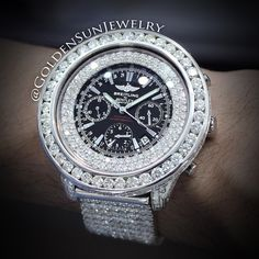 Breitling Bentley fully flooded on a custom White Gold