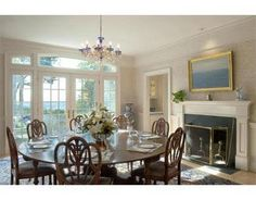 I love round tables for dining room- no decisions on who to sit by, head of table, etc!