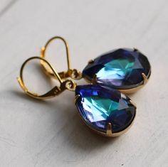 Ocean Blue Vintage Earrings