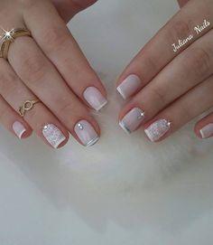 Short nails nail ideas for kids inspirational 45 fotos de unhas Pink Nails, Gel Nails, Acrylic Nails, Nail Polish, Cute Nails, Pretty Nails, Juliana Nails, Bride Nails, Wedding Nails Design