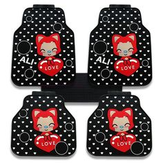 $155.32 Peach Ali General Auto Carpet Car Floor Mats Rubber 5pcs Sets - Black, Using beautiful soft imported latex, better texture, No irritating odor, durable wear, Winter does not distort, does not harden, moderate hardness and elastic, Can well prevent snow and mud flows inside the dirty floor, and can effectively protect the carpet, Very easy to clean, wash with water can easily wash away all the dirt.