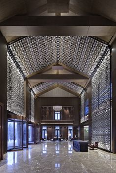 Jinren Clubhouse, Beijing. Luxury Hotel Feature Wall Concept - Lasvit Crystal Wall Glass for Architecture. | For more ideas and inspirations for a luxury design hotel visit: www.bocadolobo.com