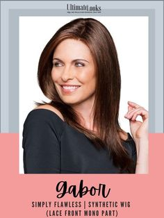 A classic, easy style with long lengths and subtle, face framing layers, this sleek silhouette offers simple, clean lines for a timeless look. #wigs #wigsmaker #wifglife #hairstyle #haircolor #hairstyles Gabor Wigs, Face Framing Layers, Synthetic Lace Wigs, Hairline, Clean Lines, Lace Front Wigs, Simple Style, Hair Lengths, Haircolor