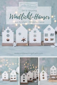 Diy Christmas Ornaments, Xmas, Diy Weihnachten, Stampin Up, Diy And Crafts, Recycling, Place Card Holders, Crafty, Table Decorations