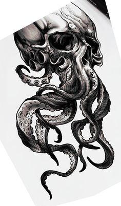 Schdel mit tentakeln check more at vasepin check mit octopustattoosleevekraken schadel tentakeln tattoo shoulder skull tatoo super ideas tattoo Octopus Tattoo Sleeve, Octopus Tattoo Design, Octopus Tattoos, Pirate Skull Tattoos, Tattoo Designs, Butterfly Tattoos, Flower Tattoos, Tattoos Geometric, Tribal Tattoos